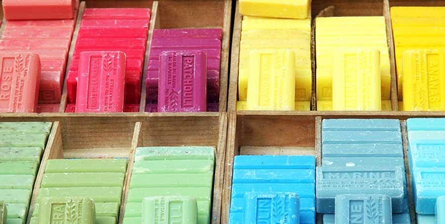 Packliste Kulturbeutel: Seife und Kosmetik