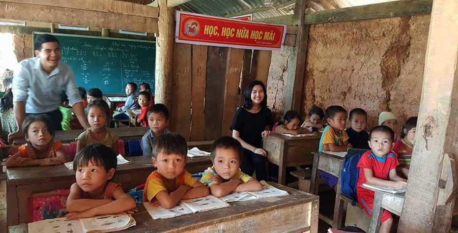 Kinder in der Schule, Vietnam