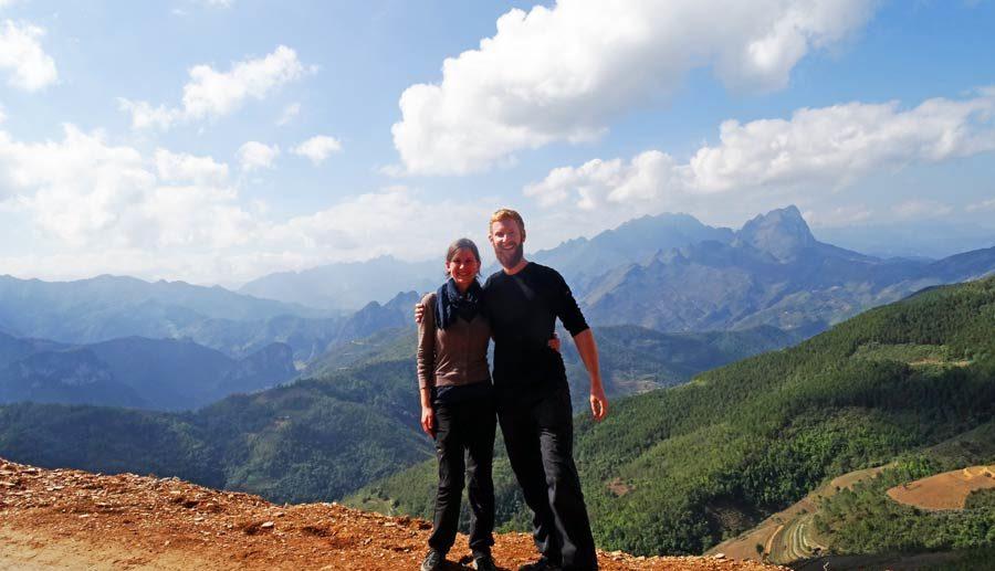Anne und Sebastian in der Ha Giang Provinz