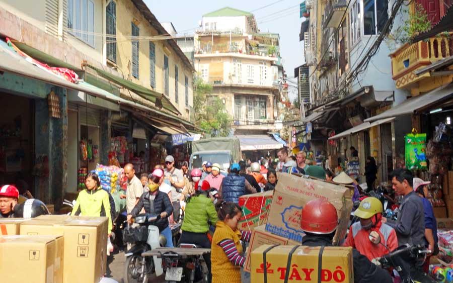 Hanoi Vietnam: Die Straßen sind voll
