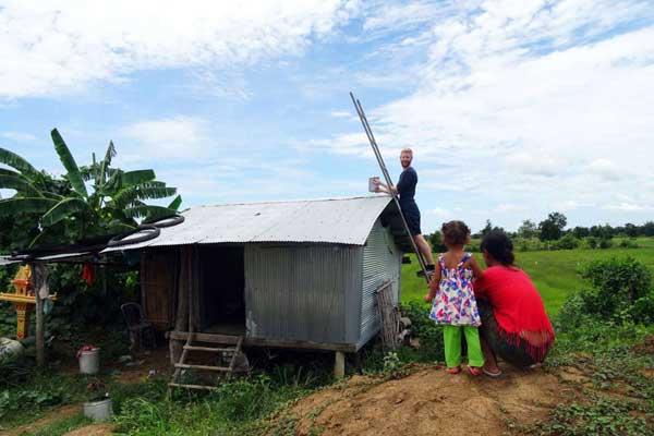 Kachel: Solar Kambodscha