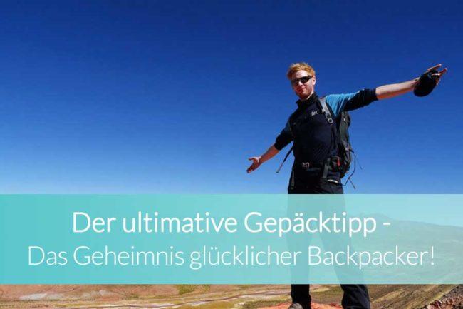 Gepäcktipp Backpacking - Beitragsbild