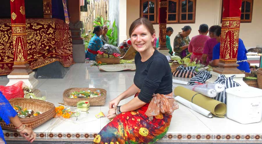 Ortsunabhängig Arbeiten & Leben: Zeremonie auf Bali