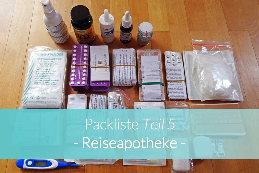 Packliste Reiseapotheke - Beitragsbild