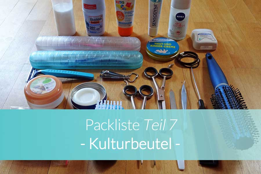 Packliste Kulturbeutel - Beitragsbild