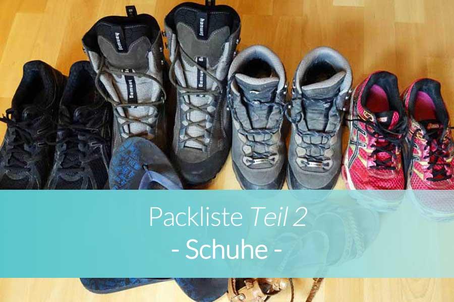 Packliste Schuhe - Beitragsbild