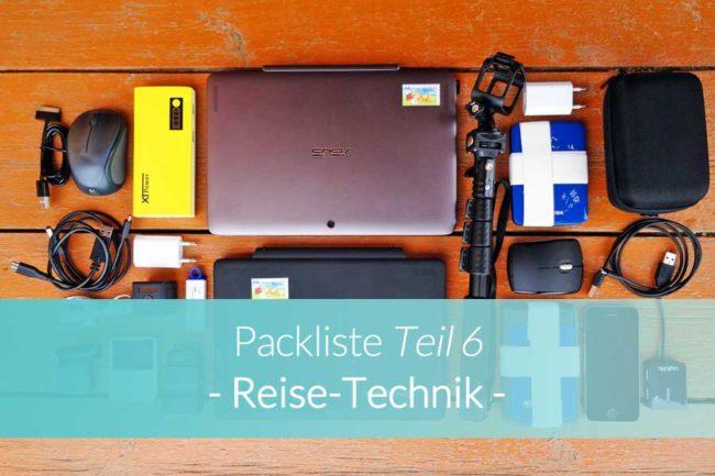 Packliste Reisetechnik - Beitragsbild