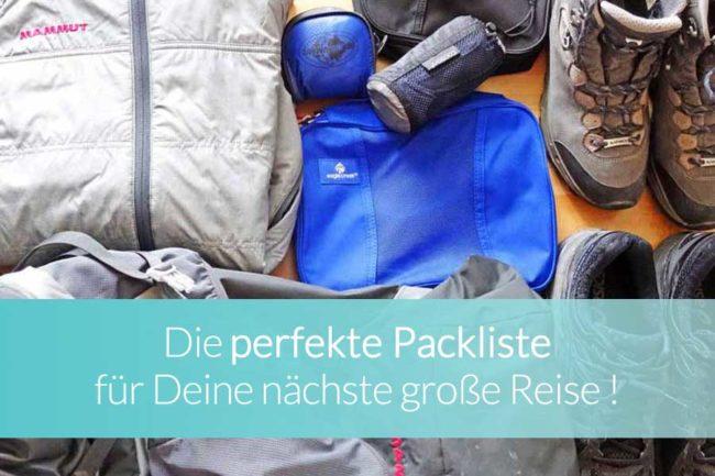 Packliste Weltreise Überblick - Beitragsbild
