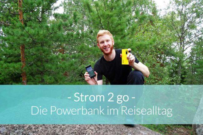 Powerbank auf Reisen - Beitragsbild