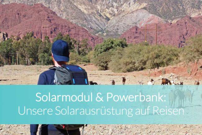 Solarmodul und Powerbank - Beitragsbild