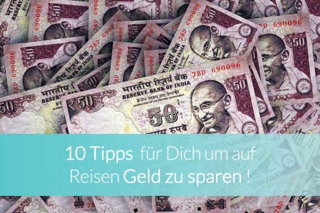 Geld sparen auf Reisen - Beitragsbild