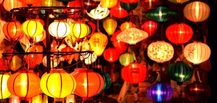 Vietnam Online Reiseführer: Lampions in Hoi An