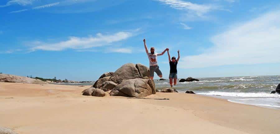 Vietnam Online Reiseführer: Sprungbild am Strand