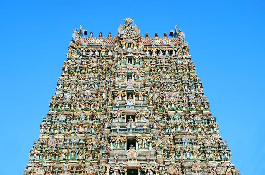 Indien Online Reiseführer: Der Minakshi Tempel in Madurai - Meenakshi Südindien