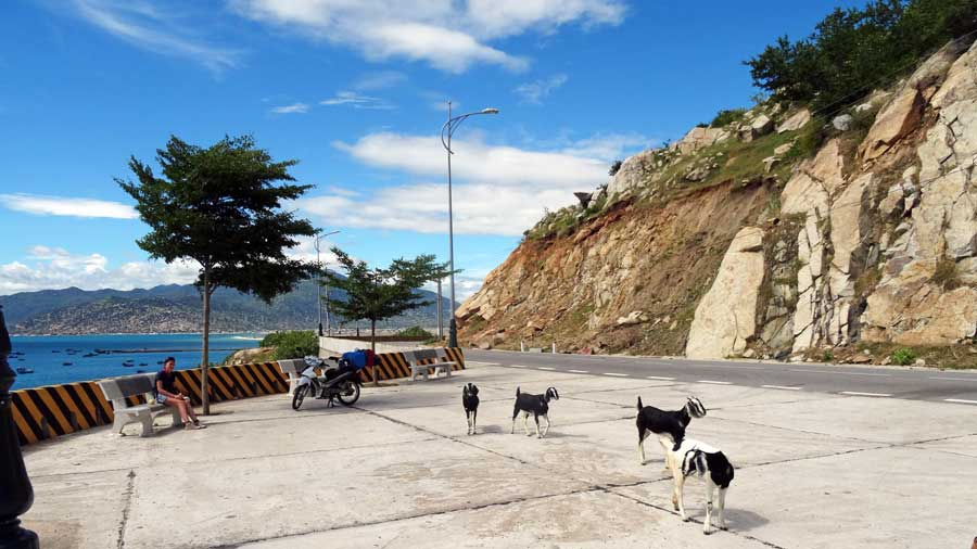 Motorrad Vietnam: Küstenlandschaft