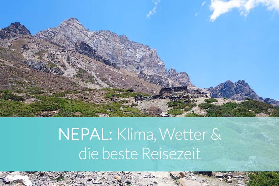 Nepal Reisezeit: Klima, Wetter und die beste Zeit zum Reisen - Mount Everest, Terai, Manaslu