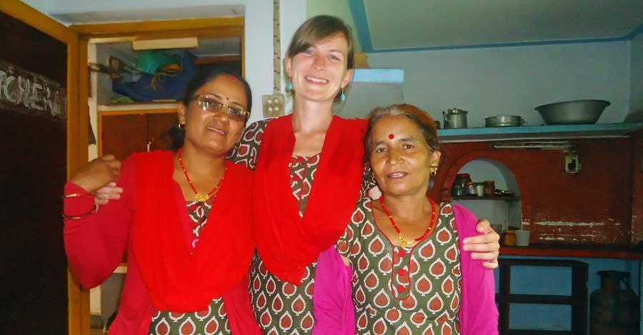 Nepal Reisezeit: Frauen in Nepal