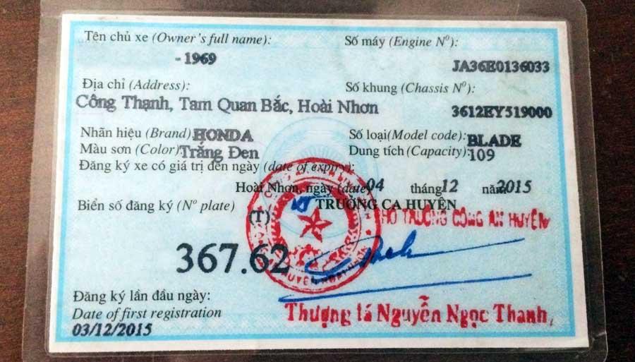 Motorradtour Vietnam: Du benötigst eine Blue Card