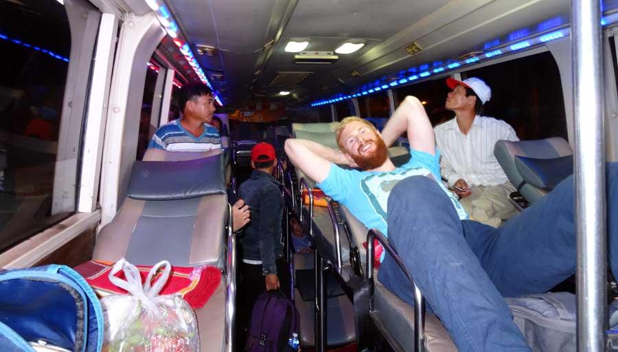 Motorradtour Vietnam: Alternativ geht ein Nachtbus