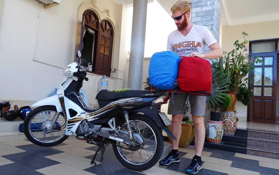 Motorradtour Vietnam: Rucksäcke packen!