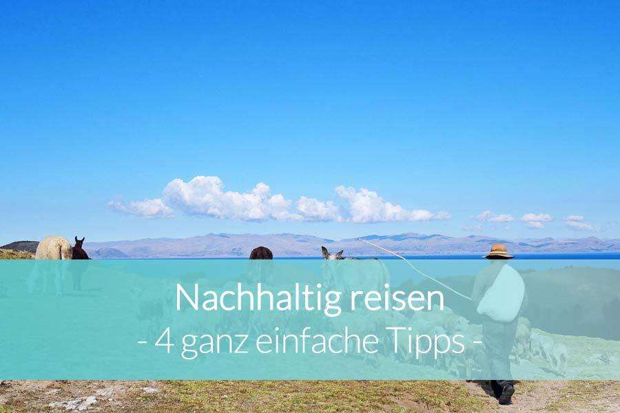 Nachhaltig reisen: 4 Tipps - Beitragsbild