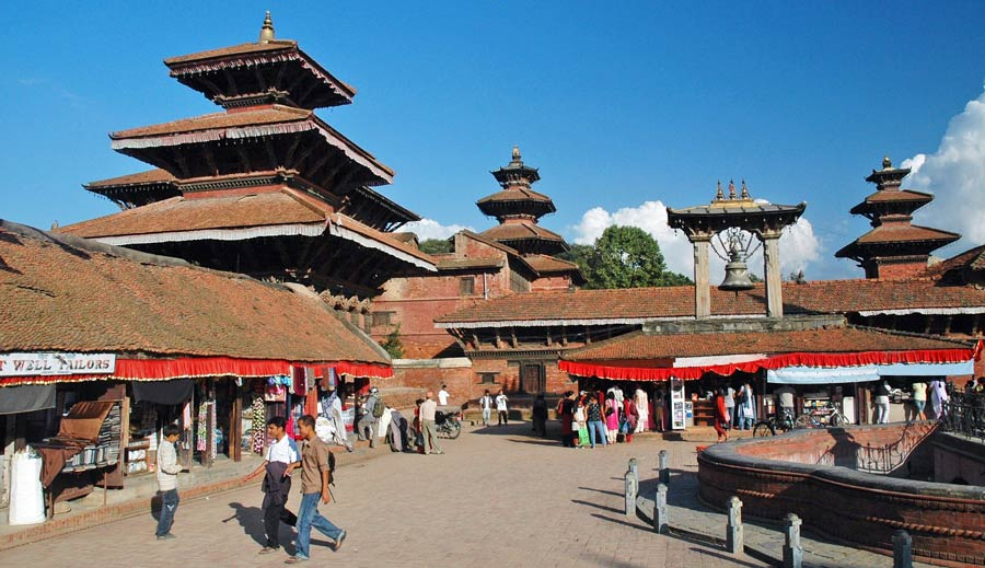 Nepal Backpacking: Durbar Square nahe Thamel Kathmandu