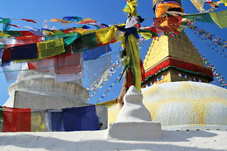 Nepal Backpacking: Swayambhunath Tempel
