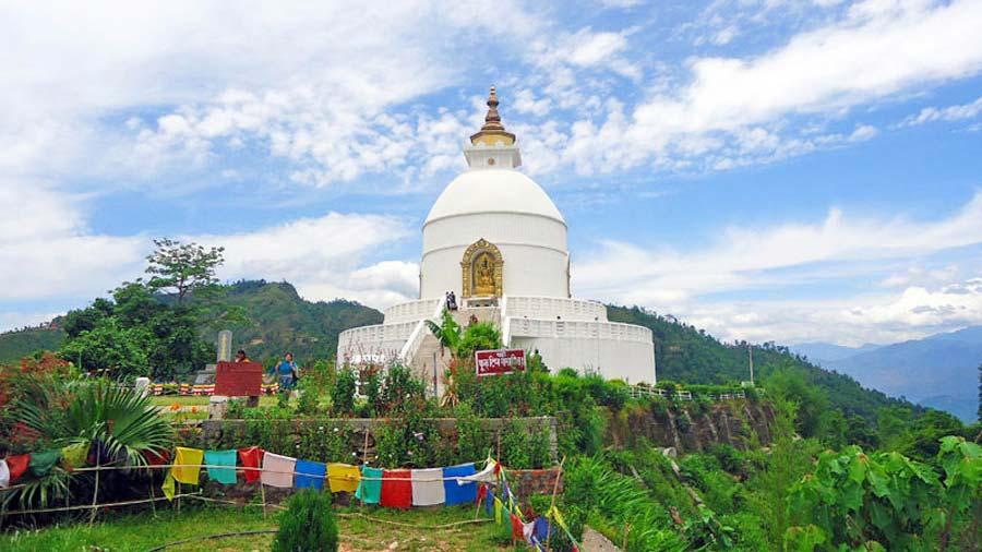 Pokhara Sehenswürdigkeiten: Peace Pagoda
