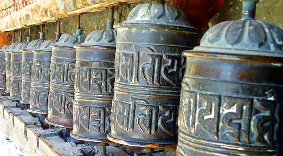 Pokhara Nepal: Gebetsmühlen in Nepal
