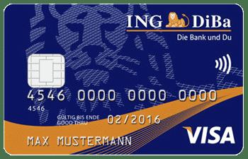 Weltreise Kreditkarte: Ing Diba Visa