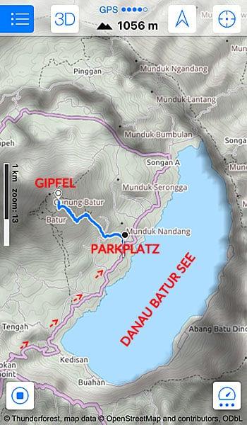 Mount Batur: GPS Tour Trekking ab Kintamani - Indonesien Guide für Südostasien