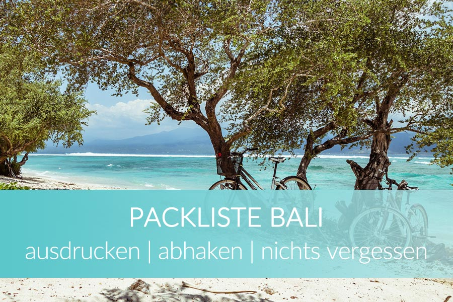 Packliste Bali Checkliste