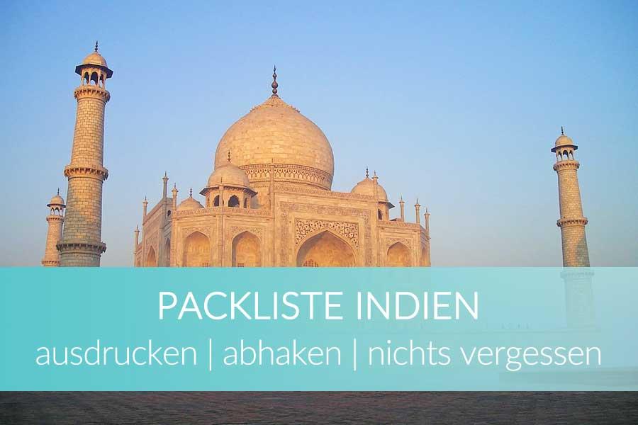 Packliste Indien abhaken