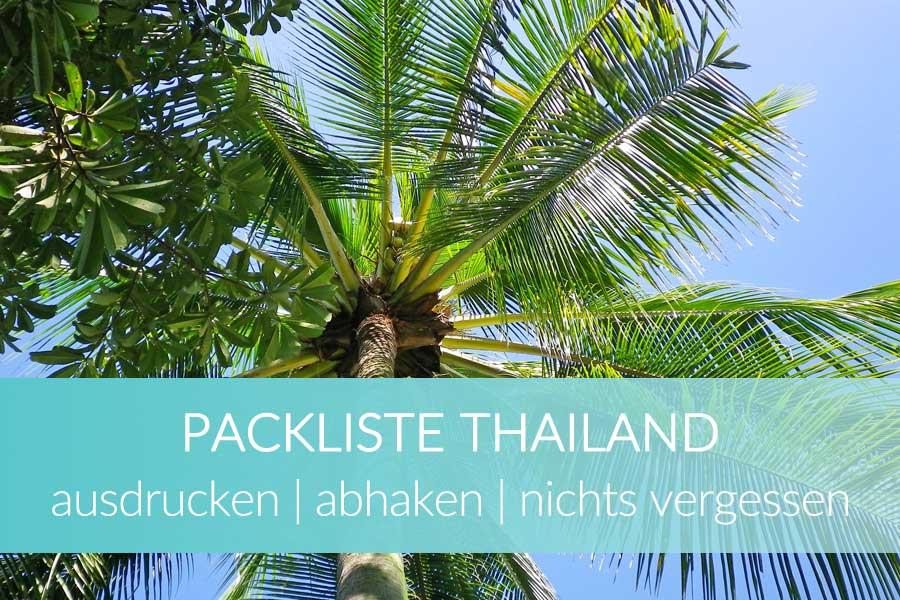 Packliste Thailand abhaken
