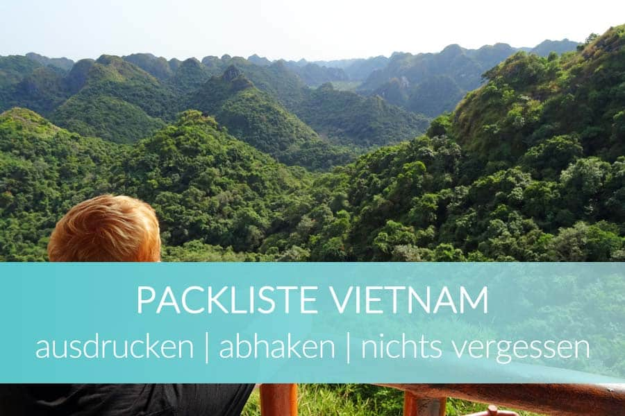 Packliste Vietnam abhaken