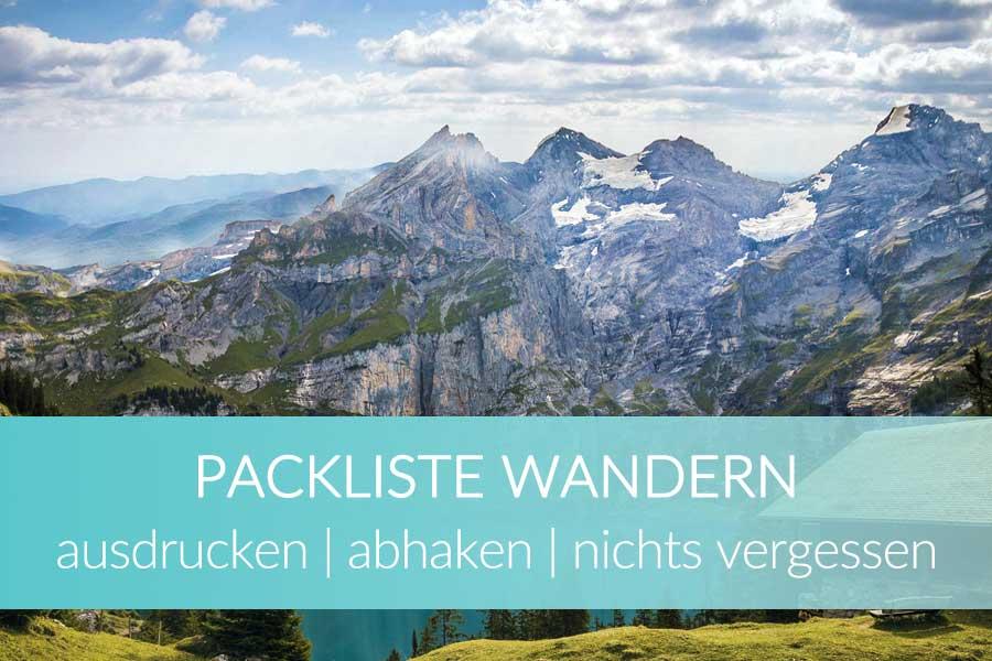 Packliste Wandern Tagestour