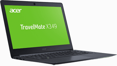 Reiselaptop: Acer TravelMate X349