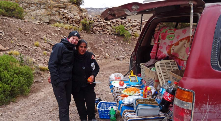 Salzebene auf dem Altiplano Bolivien