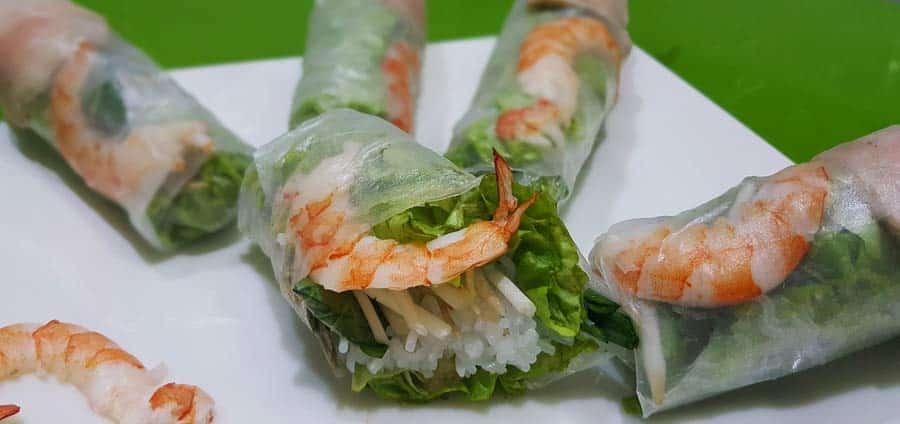 Vietnamesisches Essen: Sommerrollen