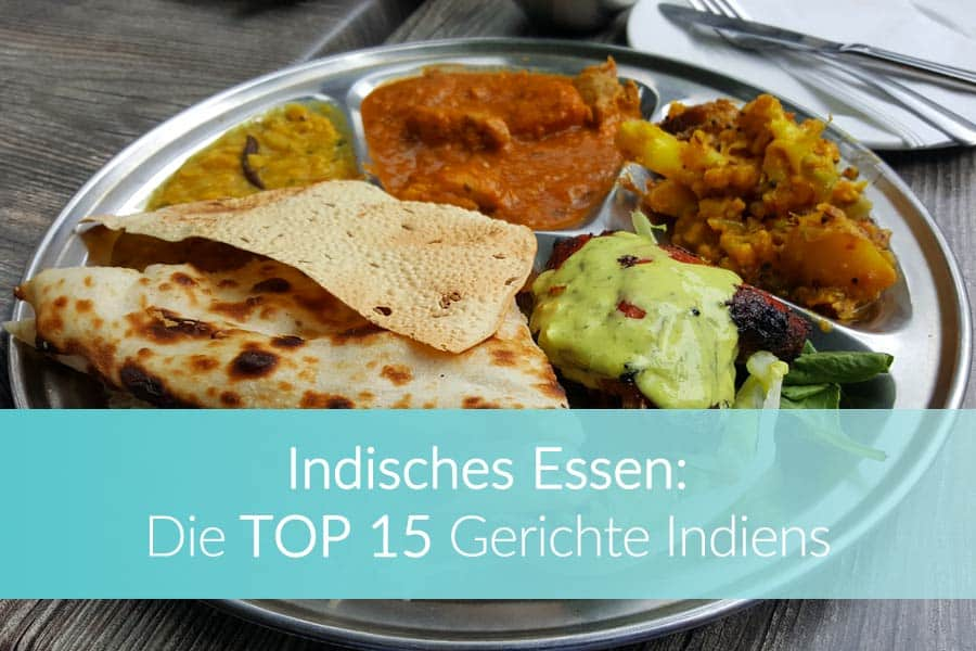 Indisches Essen: Thali