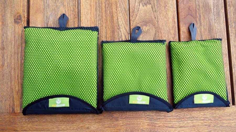 Reisehandtücher Outdoor verschiedene Größen