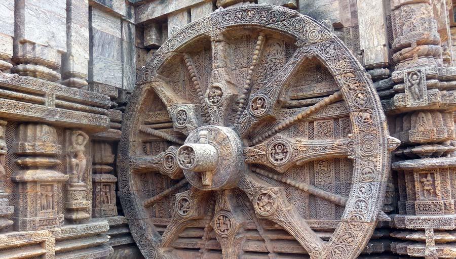 Indien Sehenswürdigkeiten: Konarak Sonnentempel - Stätten Nordindien Jahan und Dharamsala
