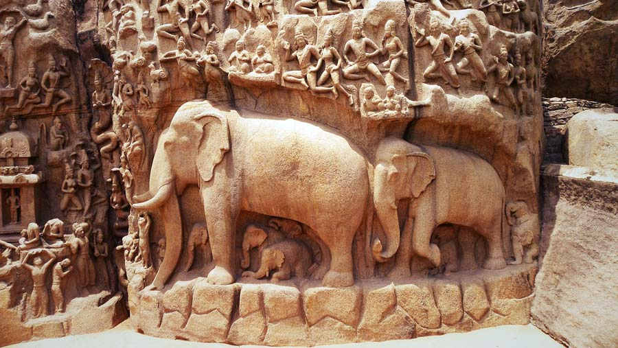 Indien Sehenswürdigkeiten: Mamallapuram - religiöse Stätten Ganges, Jahan und Goa