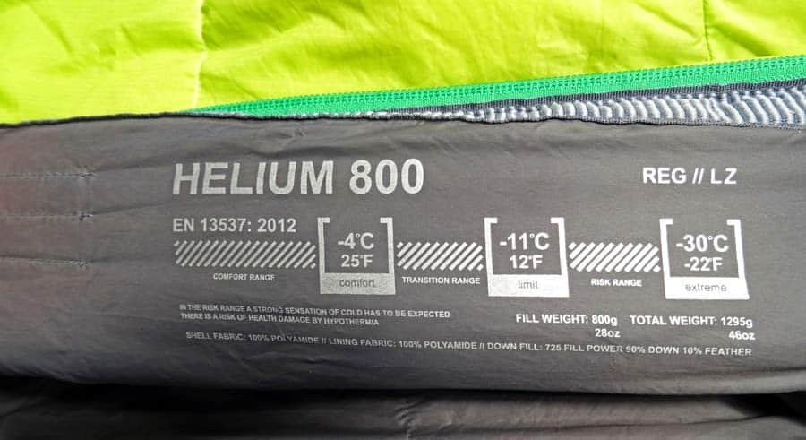 Schlafsack Test: Temperaturbereiche Mumienschlafsack Daunen Packmaß