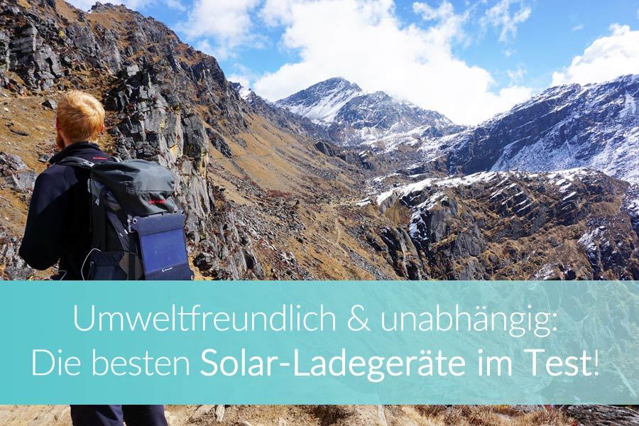 Solar-Ladegerät Test: Ratgeber & Bericht