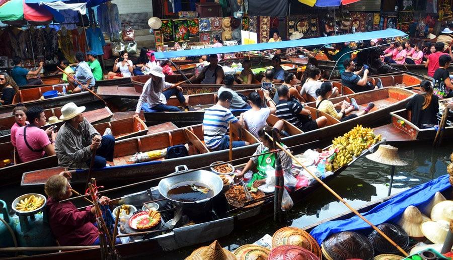 Thailand Sehenswürdigkeiten: Schwimmende Märkte