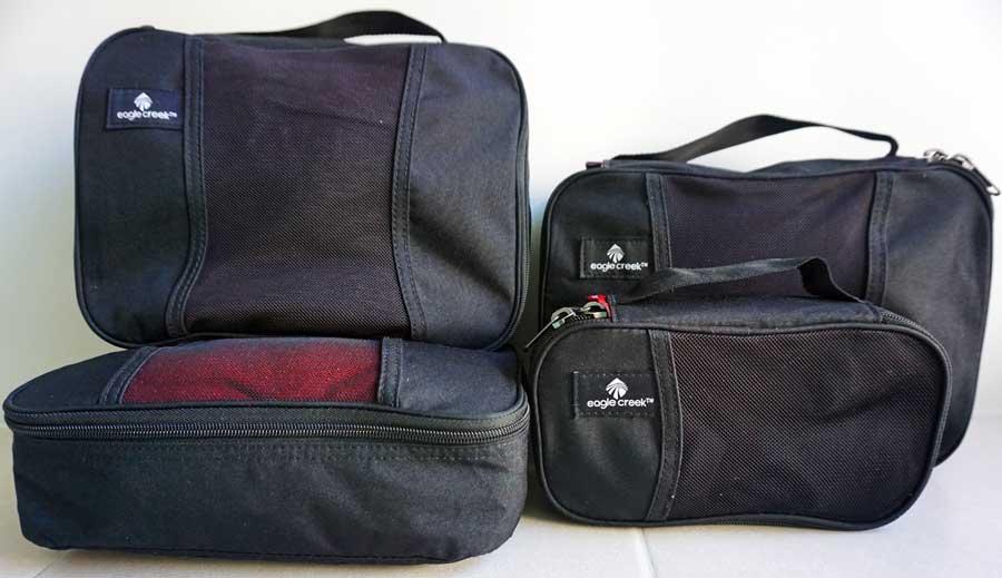 Packwürfel Packsysteme Kleidertaschen - Packliste für Kleidertasche, Packwürfeln und Wäschebeutel