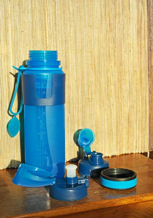 Faltbare Trinkflasche: Nalgene Vapur Aqua Lucious - Wasserflaschen faltbar Faltbecher BPA