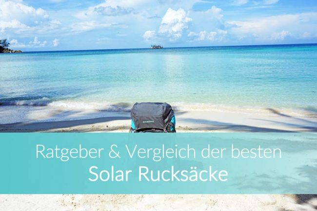 Solar Rucksack: Top Modelle