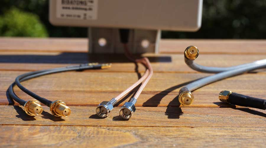 Internet im Wohnmobil: Mono Antenne SMA TS9 Anschluss